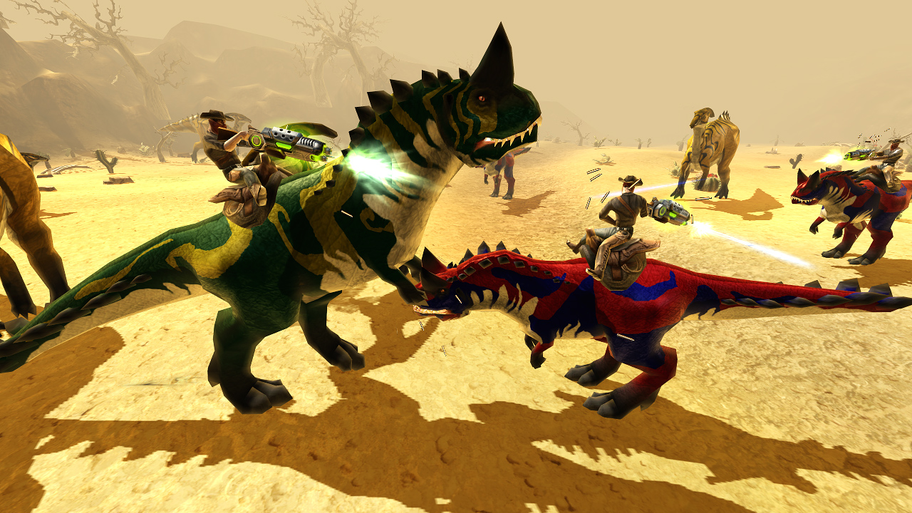 dinosaur fight games