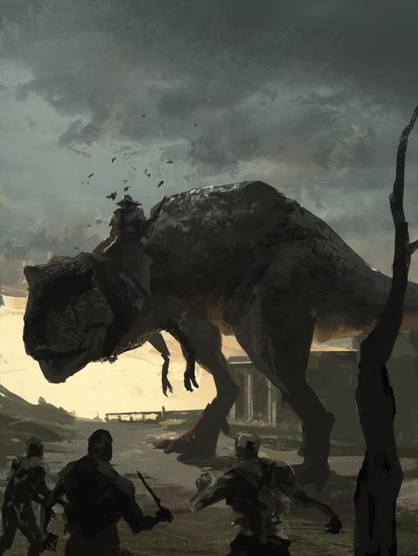 Zombie Horde Art More Zombie Dinosaur C...
