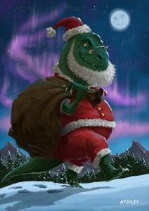 Dinosaur-Christmas-Santa_Martin-Davey